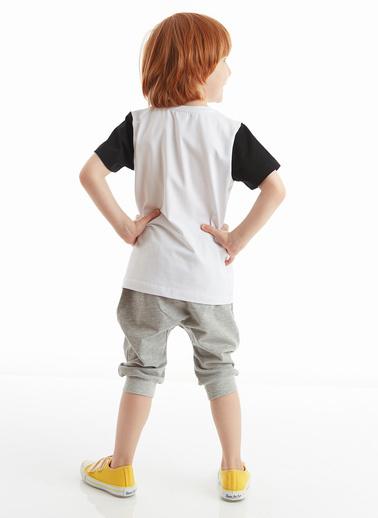 Denokids C'mon Erkek Çocuk Kapri Takım Beyaz